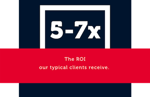 ROI typical clients receive is 5-7x